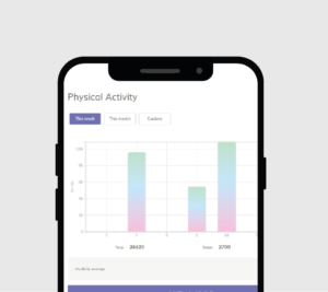 Revitalised wellbeing app recording physical activity