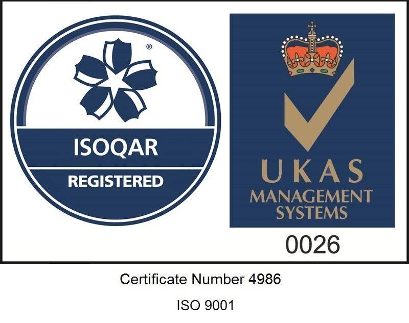 UKAS ISOQAR Quality Accreditation 9001